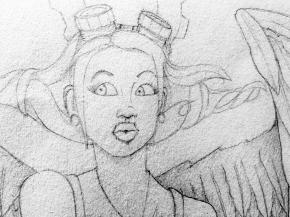 SteamPunk Sketch -   Close Up Face